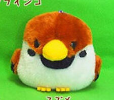 Kotori Tai Fluffy Birds 3'' Suzume Sparrow Amuse Prize Plush Key Chain NEW