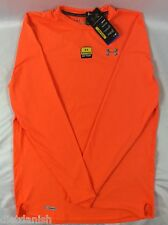 Under Armour MEN'S Long Sleeve Shirt Fitted Anti Odor DUSTY Orange Size L