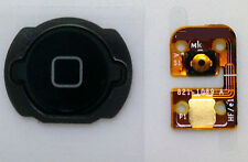 NEW BLACK Home Menu Button Flex Cable Key Cap assembly for iPod Touch 4 4TH  Gen