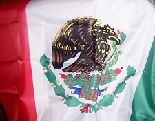 """MEXICAN FLAG : RED-WHITE-GREEN COLORS: CLOTH  ONE 60"""" X 36"""""""
