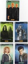 Doctor Who the Card Game 2009 c7e - 5 Art Cards: Nestene Conciousness, Cybermen