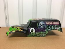 K New Bright 1/10 Grave Digger Monster Jam Body & Headlights  Only