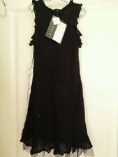 New Black Dress Girl Party Wool SISLEY 4/5 yrs - 110cm (size: XS)• High Quality
