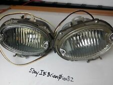1959 59 CADILLAC COMPLETE PARKING LIGHT LENS  CLEAR - 1 PAIR Fleetwood