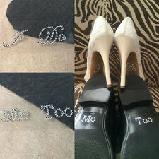 I Do Me Too White Clear Bridal Groom Shoe Decal Sticker Set Wedding Decoration