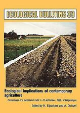 Ecological Bulletins: Ecological Implications of Contemporary Agriculture :...