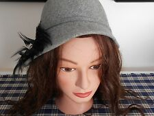 Vintage Women's Betmar New York Wool Hat with Feathers United Hatters