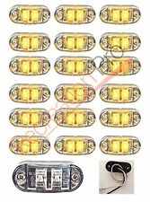 "18 NEW 2.6""x1"" CLEAR/AMBER SURFACE MOUNT LED CLEARANCE MARKER LIGHTS EL-112602CA"