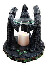 Triple Goddess Maiden Mother Crone Wicca Candle Holder Oil Diffuser Sculpture
