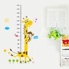 Kids Height Growth Chart Cartoon Giraffe Wall Sticker Home Room Decor New