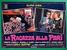 T17 FOTOBUSTA LA RAGAZZA ALLA PARI GLORIA GUIDA CARLO GIUFFRE' LIONELLO COMO 3