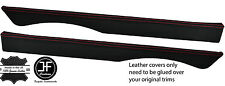 RED  STITCHING 2X TOP REAR DOOR CAPPINGS LEATHER COVERS FITS MG MGB GT CLASSIC