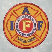 "IAFF Local 2800 Firefighters Association Patch - Arlington, Virginia - 4"" x 4"""