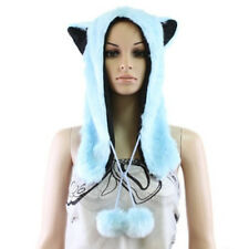 Soft Blue Faux Animal Ears Hat Winter Hat NWT! Fur Fox Ears Snow Anime Cosplay
