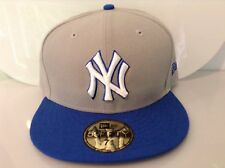 New Era 59Fifty MLB NY YANKEES Fitted Cap , Size 7 7/8 , Color Gray/Azure
