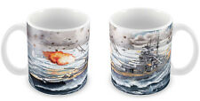 WWII German Bismarck Battleship Mug - Gift Idea Naval ship War