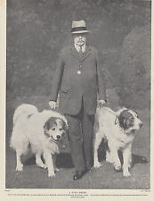Great Pyrenees Dogs With Sir Worsfold Pyrenean Mountain Dog Vintage Print 1935