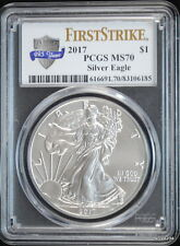 2017 AMERICAN SILVER EAGLE 225th. ANNIVERSARY $1 PCGS MS-70 FIRST STRIKE