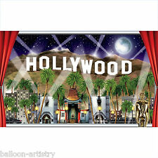 "62"" Hollywood Window Awards Night Giant Sign Banner Scene Setter Add On Prop"