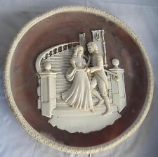 LORD NELSON & LADY HAMILTON LIMITED EDITION CARL ROMANELLI INCOLAY STONE PLATE