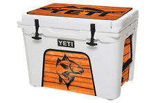 YETI Cooler Wrap Skin Decal 24mil for Roadie 20 qt  Redfish Wood