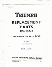 Triumph Parts Manual Book 1970 Bonneville T120 & 1970 Trophy TR6