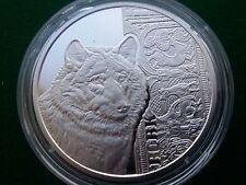 Ukraine , 5 UAH Wolf , silver coin 2016 year
