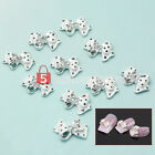 10 x 3D white Nail Art Glitters Slices DIY Tie Rhinestones Alloy Bow Decoration