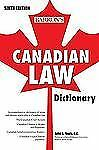 NEW - Canadian Law Dictionary by Yogis Q.C., John A.; Cotter, Catherine