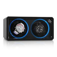KLARSTEIN UHRENBEWEGER WATCH WINDER SHOWCASE VITRINE BOX f. 2 UHREN LED EFFEKT