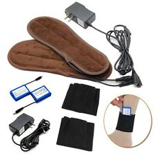 Rechargeable Battery Heated Insoles Winter Foot Warmer Shoes Heater Socks Holder