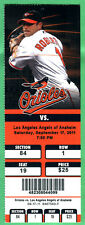 ANGELS ROOKIE MIKE TROUT CAREER HIT #23 FULL SEASON TICKET-9/17/11 AT ORIOLES