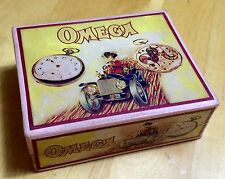 Vintage 1920's OMEGA Pocket Watch Box Scatola Caja Red RARE 800 SAVONETTE OEM