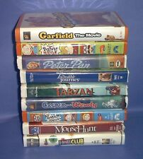 Lot of 9 Childrens VHS Video Movies RUGRATS, MOUSE HUNT, TARZAN, GARFIELD +++++