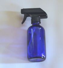 Brand New 8 Oz Blue Essential Oil Empty Glass Bottle Vial with Trigger Spray Top