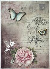 Rice Paper for Decoupage Decopatch Scrapbook Craft Sheet Vintage Botanic Garden