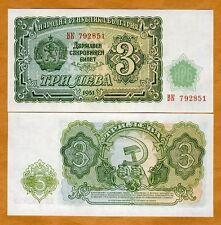 Bulgaria, 3 Leva, 1951, P-81, UNC