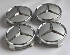 Mercedes Benz Wheel Rim 75mm SILVER CHROME Centre cap Hub caps - A B C E S ML GL