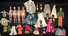 Huge Lot VINTAGE 1970'S Topper DAWN 4 DOLLS Kevin CLOTHES Accessories GOWNS, etc