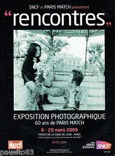 """PUBLICITE ADVERTISING 115  2009  SNCF expo """" RENCONTRES"""" John Lennon & Oyoko ONO"""