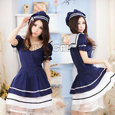 Student School Maid Servant Uniform Cosplay Sexy Costume Outfit Temptation Dress