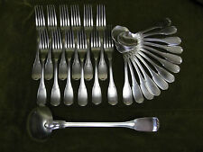 menagère metal argente volutes (dinner forks soup spoons) Cailar Bayard
