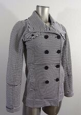 HURLEY women's double breasted light jacket black & white XS new