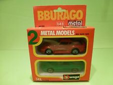 BBURAGO 4200 2x PORSCHE 959 + 928 - RED + GREEN  1:43 - GOOD CONDITION IN BOX