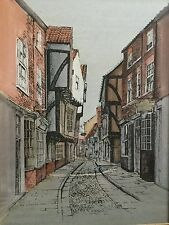 PRINT of The Shambles, York, by Jane Pearson - Buildings and Streets