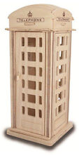 TELEFONO BOX Construction Kit-WOOD CRAFT-autoassemblaggio Puzzle DECORARE FAI DA TE