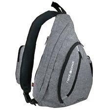 Versatile Canvas Sling Bag / Urban Travel Backpack, Grey | Wear Over Shoulder or