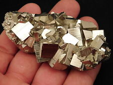 A Super Nice AAA PYRITE Crystal CUBE Cluster From The Huanzala Mine Peru 125.1gr