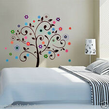 Tree Decals Decor Art Home Flower Tree Wall Stickers Art Kid Nursery Room Decor