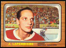 1966 67 TOPPS HOCKEY #67 JACQUES LAPERRIERE EX-NM MONTREAL CANADIENS CARD